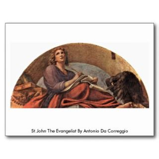 St.John The Evangelist By Antonio Da Correggio Postcard