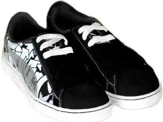 Puma Suede 80 34591302 Graffiti Herren Sneaker Schuh Schwarz Neu Gr 41