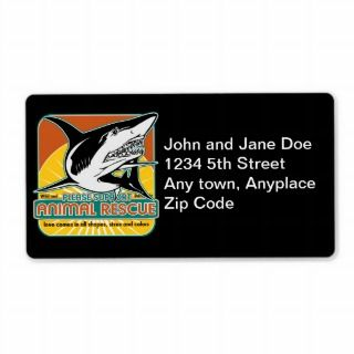 Animal Rescue Shark Personalized Shipping Label