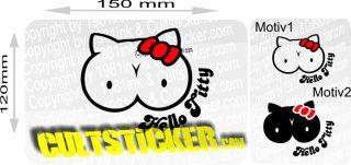 Hello Titty Aufkleber 2 Farbig Sticker Shocker 15 cm