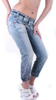 Miss Sixty Damen Jeans 7/8 Capri Caprijeans Blau Strip Gr. W24 W30 #20