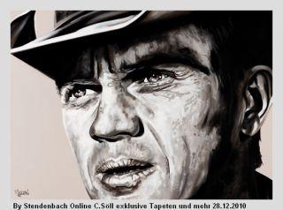Wandbild Digital Steve McQueen 372 x 270 cm (58,76€/m²)