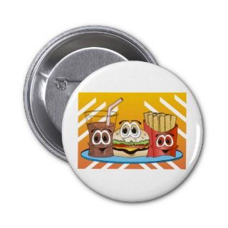 Fast Food Cartoon Pin