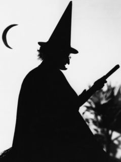 Silhouette of a Witch Photographic Print