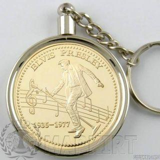 Elvis Presley Münze+Goldmünze Gold 999 verg. Anhänger