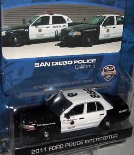 2x Hot Pursuit `11 FORD POLICE INTERCEPTOR K9 + TRAFFIC SAN DIEGO