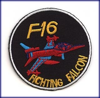 PATCH AUFNÄHER AUFBÜGLER F 16 FIGHTING FALCON BADGE US AIR FORCE