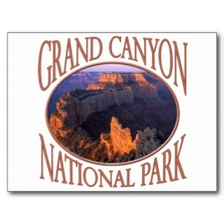 Grand Canyon National Park Sunrise North Rim Photo Postcards