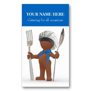 Catering: Restaurant Cook Cafe Bistro Cool Chef Business Cards