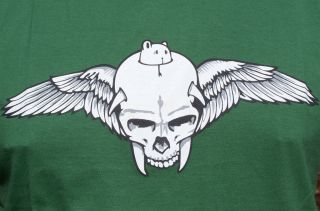 flying skull club shirt rockabilly gr dc L jeremy fish