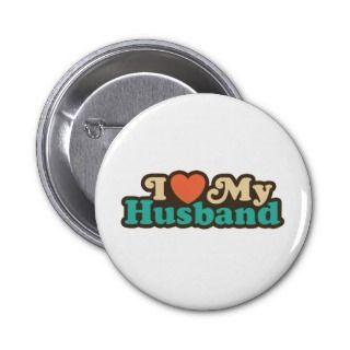 Love My Husband Buttons