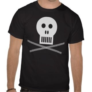 NOT SCARY SKULL AND BONES T SHIRT