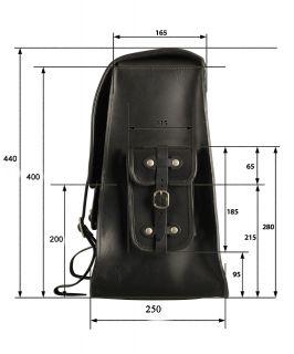 Packtasche 36ltr Harley Davidson Softail DeLuxe Custom Satteltasche HD