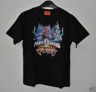 POWER RANGER JUNGLE FURY T Shirt Schwarz Gr. 98/104