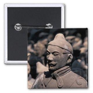 Terra Cotta warriors in Emperor Qin Shihuangs 2 Buttons