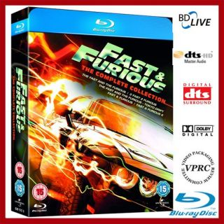 FAST & AND THE FURIOUS 1   5 THE COLLECTION BLU RAY KOMPLETT BOX NEU