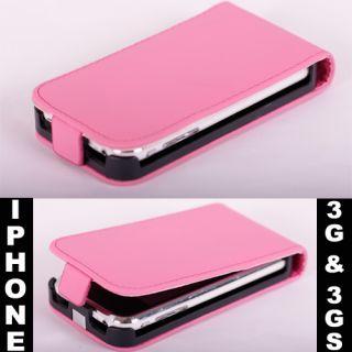 iPhone 3G & 3GS Rosa / Pink Handy Leder Tasche Hülle Etui Case Cover