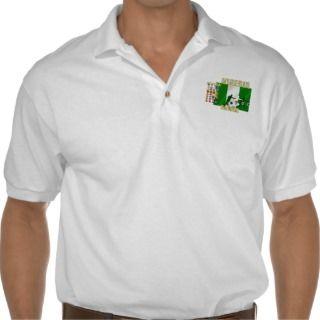 Nigerian love I heart Naija hearrt flag of Nigeria Polo T shirts