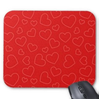 Red Hearts Background Mouse Pad