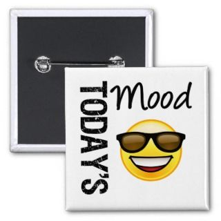 Todays Mood Emoticon Cool with Shades Pin
