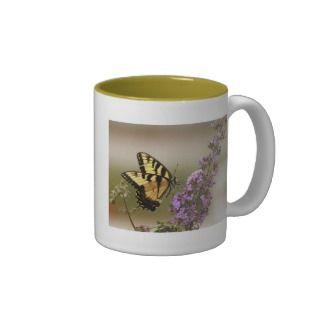 Tall Butterfly Coffee Mug