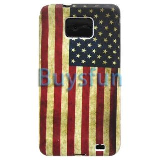Retro America American Flag Gel Cover Case For Samsung Galaxy S2 i9100