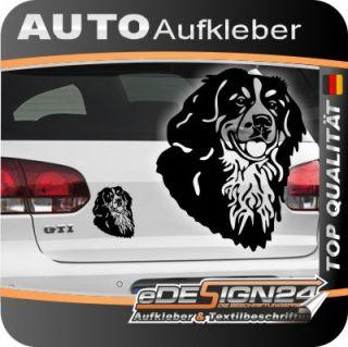 E296 Hundekopf Hund Bernersenn Auto Aufkleber Autoaufkleber Sticker