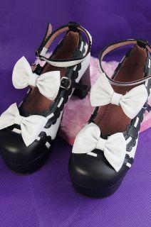 03 Gothic Lolita Punk Damen Schuhe Pumps n. Maß Leder Kalbsleder
