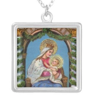 Nativity With Madonna And Child Personalised Necklace