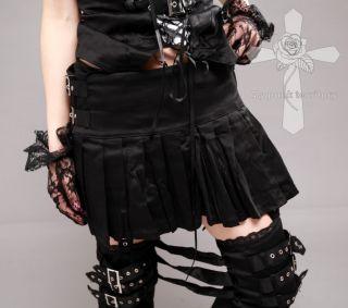 Jrock Visual Kei Resident Evil Punk Rock Cyber Belt Emo 3Way Pleated
