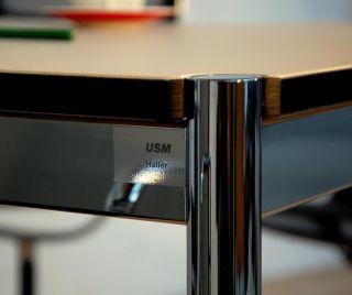 Original USM Haller Tisch Linoleum beige