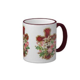 Cross With Lillies Mugs, Cross With Lillies Coffee Mugs, Steins & Mug