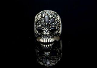 Ring Sugar Skull Tattoos Totenkopf Biker Gr. 64 (20,3 mm Ø)
