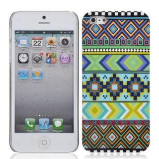iPhone 5 5G Hard Case Azteken Design Schale Hülle Cover Tasche Schutz