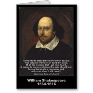 William Shakespeare Quote Julius Caesar Card
