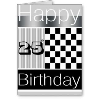 Cards, Note Cards and Happy 25th Birthday Greeting Card Templates
