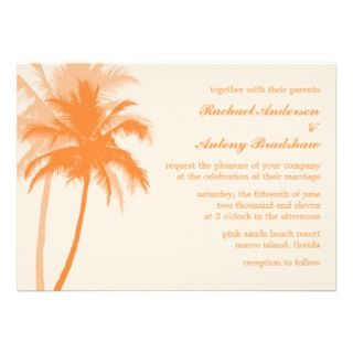 Palm Trees Tropical Wedding Invitations