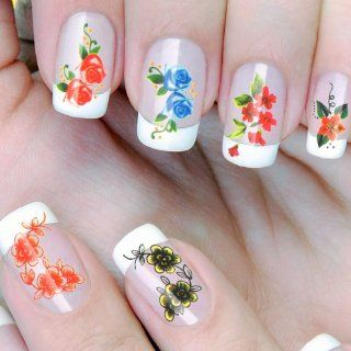 Nail art 220 Tattoos Sticker Blume Muster wählbar wasserdicht Flower