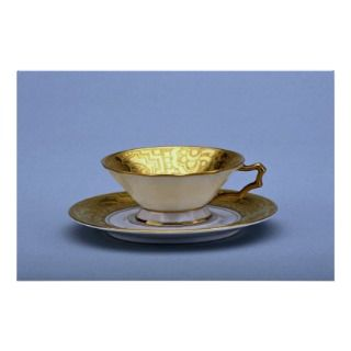 20th century tea cup and saucer, Bavaria, Germany Print