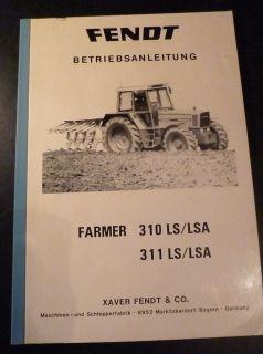 Fendt Farmer 310 + 311 LS / LSA Betriebsanleitung