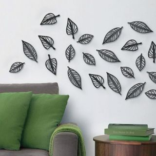 Blätter   3D Wandtattoo Walltattoo Tattoo Deko Blume Blüte Pflanze