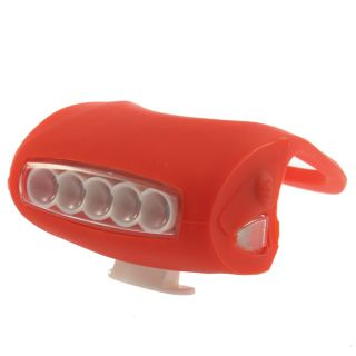 Bike Bicycle cycle 7 LED Silicone Super Frog Head Front Lamp Warning