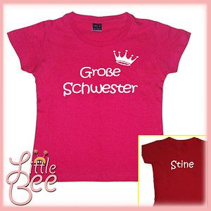 Girl Shirt *Große Schwester* inkl.Wunschname WahlMotiv,Größe,Farbe