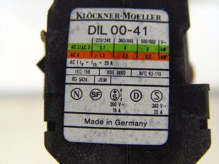 Klöckner Moeller Universal Schütz DIL 00 41 NEU X314