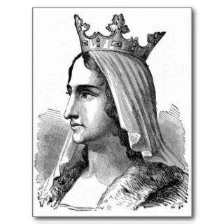 Medieval Queen Postcard