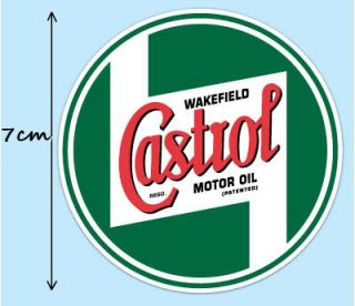 2X Castrol Racing Classic Aufkleber Vespa Decal STICKER