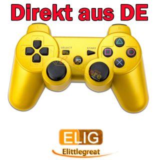 Gold Funk Bluetooth Controller/Gamepad Wireless für Sony PS3 aus DE
