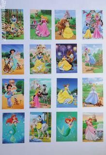 Walt Disney PRINCESS 16 Postcard Set #4