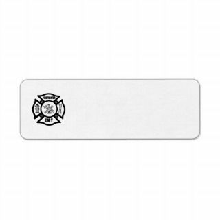 Firefighter EMT Custom Return Address Label
