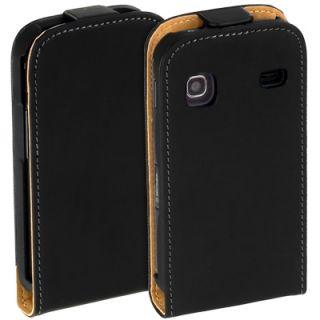 Premium Leder Flip Style Case f Samsung Galaxy Gio S5660 Etui Hülle